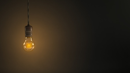 filament: Vintage Hanging Light Bulb Stock Photo