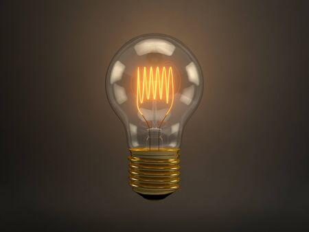 filaments: Vintage Light Bulb Stock Photo
