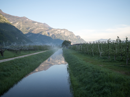 valley canal and cultivation