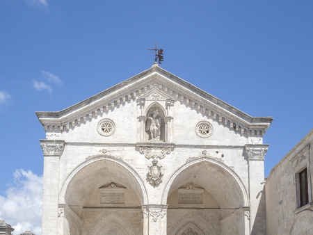 21 august  2017 holidays in puglia italy. Sanctuary of Monte SantAngelo, Italy. S Monte Sant Angelo, Apulia,  south italy    little beautiful town of south italy, Monte Sant Angelo, all white