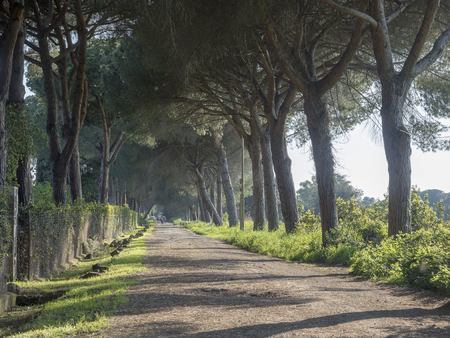 21 april 2018 on Via Appia, Appian Way from Porta Appia, anicient road of Rome