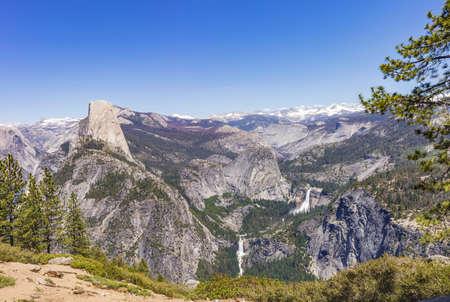 Panoramic view of Yosemite Valley