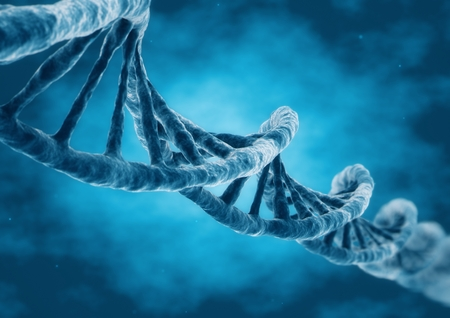 3D Rendering DNA strand 写真素材