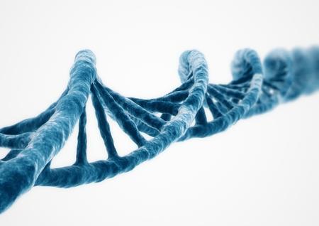 3D Rendering DNA strand Banque d'images