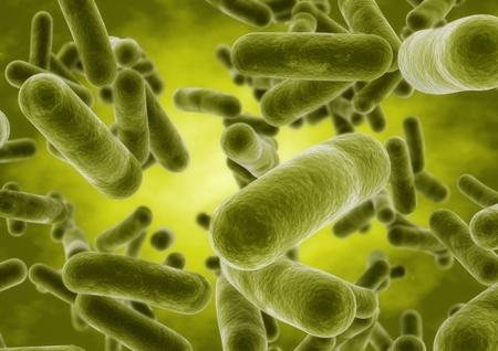 3D-rendering bol bacteriën cellen close-up Stockfoto - 82444499