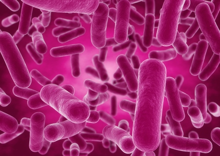 3D-rendering bol bacteriën cellen close-up Stockfoto