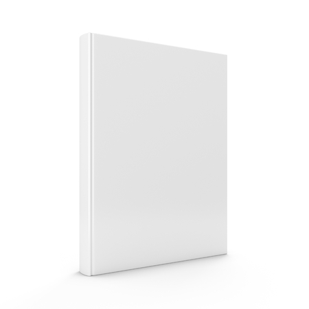 3D rendering blank book on white background