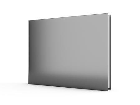 3D rendering black book on white background 版權商用圖片