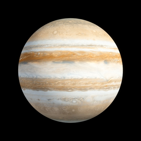 3D Rendering Planet Jupiter isolated on black