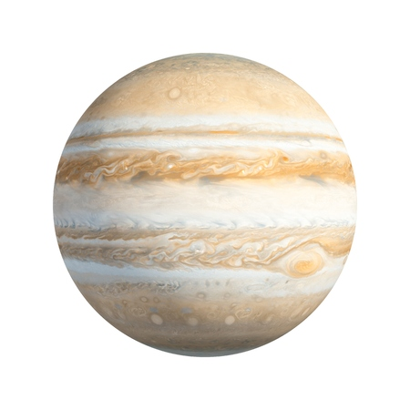 3D Rendering Planet Jupiter isolated on white Stockfoto