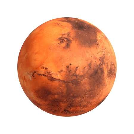 3D Mars Rendering Mars isolated on white