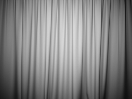 3D rendering white stage curtain