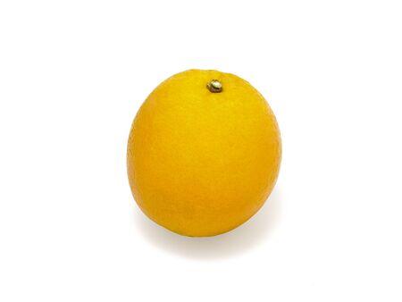 Fresh orange isolated on a white Stock Photo