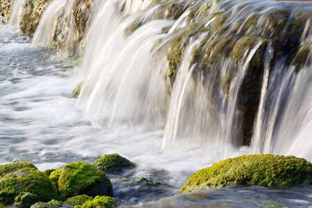 The Natural Landscape which Flocks of Small waterfalls  Stock Photo
