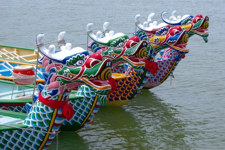 Dragon Boat in the Dragon Boat Festival