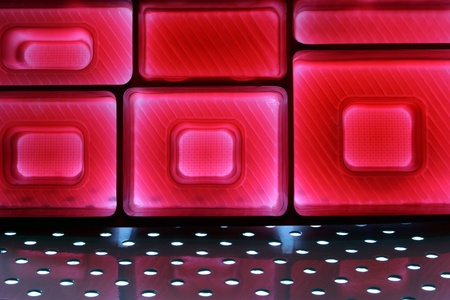 The Red Bright Light and Arranged shape Stock Photo