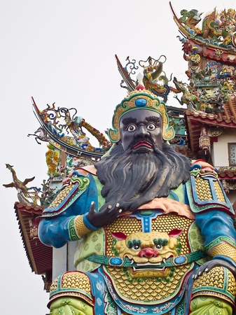 The Temple Statue of Chinese historical figure Zhang Fei Stock Photo - 13113689