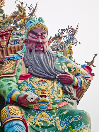 The Temple Statue of Chinese historical figure Guan Gong Stock Photo