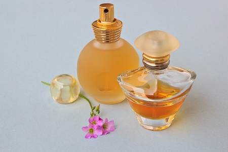 The Fashion Modeling Perfumes with flowers