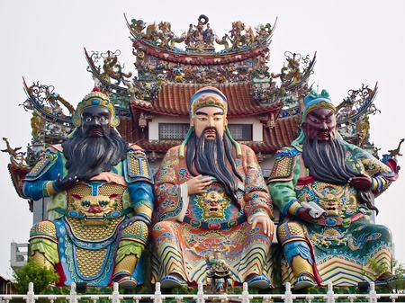 The Temple Statue of Chinese historical figures