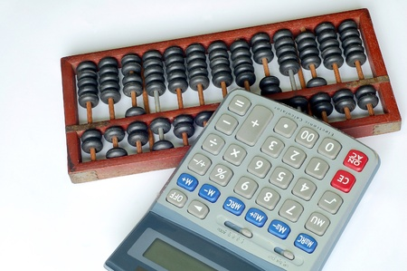 the Traditional Chinese abacus and the Contemporary Electronic Calculator