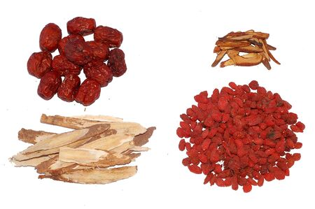 Four kind of Traditional Chinese Tonic herbs