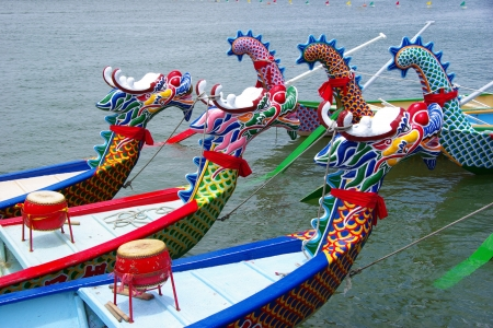 the Dragon Boat in competition