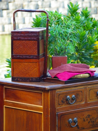 The Exhibition of Traditional Chinese antique furniture Stock Photo - 13695997
