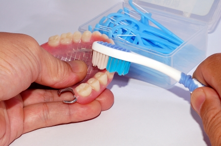 housewares: Cleaning the Denture with the Toothbrush