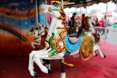 The Carousel for Entertainment in Amusement Park