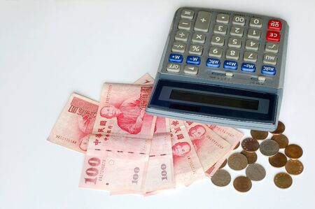 nt: The Electronic Calculator and Arranged NT Stock Photo