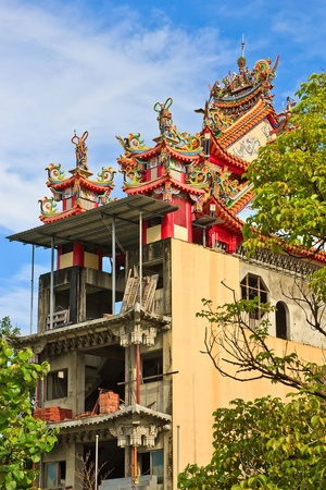 A Colorful Chinese Traditional temple which is Building Stock Photo - 14206228