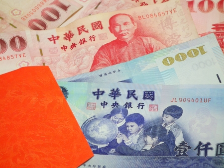The Taiwan Dollars and the red envelope