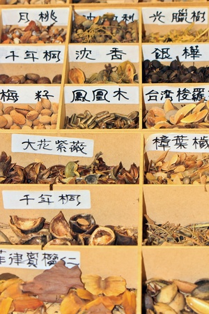 categorize: A variety of plant seeds Arranged in Wooden box