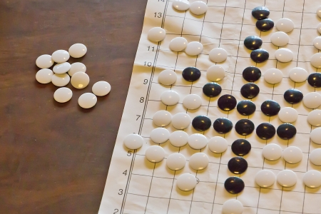 confrontational: The Chinese Traditional Go game with Piece and Chessboard