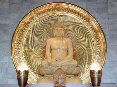 chinese buddha: A majestic and Peaceful Chinese Buddha carving