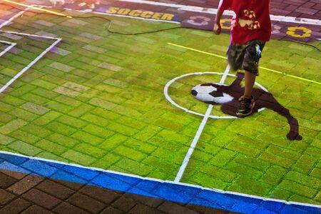 The game to Kick a virtual football