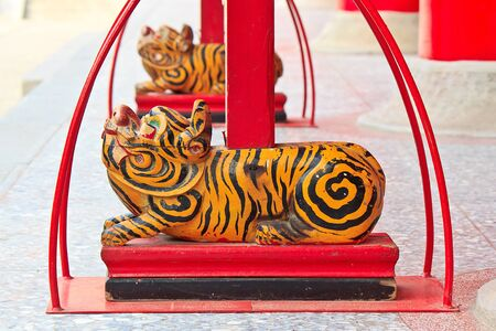 The Temple Decoration of Chinese legend sacred animal