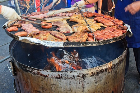 aborigines: The Taiwan aborigines Traditional grilled foods with Meat