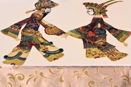 puppetry: Un espect�culo de luz y sombra de teatro de sombras chino