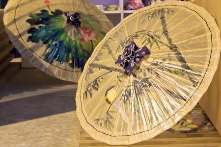 The Merchandise of Traditional handmade paper umbrellas Stock Photo - 17216306