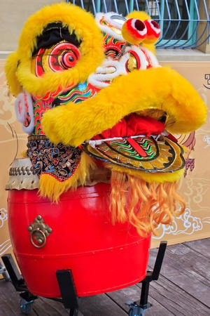 Chinese Lion Dance with Drum for Festival