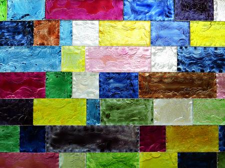 Colored glazed bricks