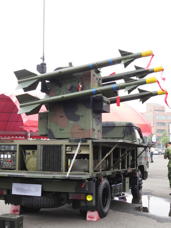 conscription: Sword air defense missiles    2014 Taiwan national army Shows a variety of weapons in recruiting activities