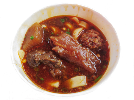 and distinctive: Taiwan Distinctive Traditional Food of braised beef noodles