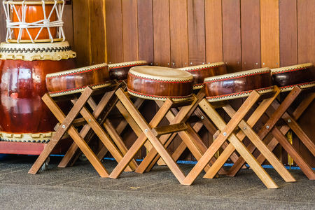 combination: The combination of Percussion instruments with drums Stock Photo