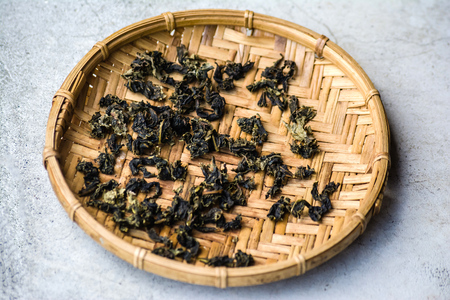 Agricultural product of tea leaves on Sun exposure