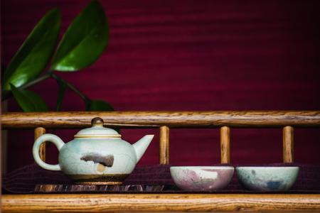 teacups: Teapot and teacups Stock Photo