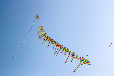 distinctive: The Entertainment of Flying a Distinctive Modeling kite Stock Photo
