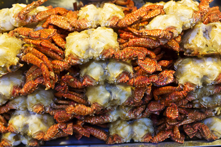 and distinctive: Taiwan Distinctive Traditional Snack of Fried Crab
